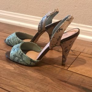 H&M Sling Back Peep Toe Heels - Size 7